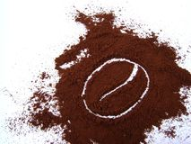 Caffee symbol. Grounded coffee with caffee symbol. Isolated Royalty Free Stock Images
