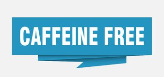 Caffeine free. Sign.  paper origami speech bubble.  tag.  banner vector illustration