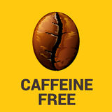 Caffeine free icon on yellow background, vector illustration. Caffeine free icon on yellow background, vector illustration Stock Image