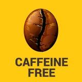 Caffeine free icon on yellow background, vector illustration. Stock Image