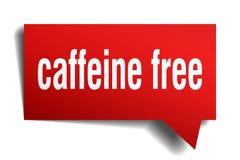 Caffeine free red 3d speech bubble. Caffeine free red 3d square isolated speech bubble Stock Image