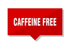 Caffeine free red tag. Caffeine free red square price tag royalty free illustration