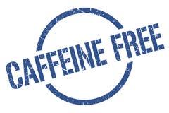 Caffeine free stamp. Caffeine free round grunge stamp. caffeine free sign. caffeine free stock illustration