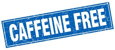 Caffeine free stamp. Caffeine free square grunge stamp. caffeine free sign. caffeine free vector illustration
