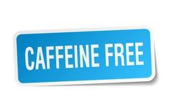 Caffeine free sticker. Caffeine free square sticker isolated on white background. caffeine free Stock Photo