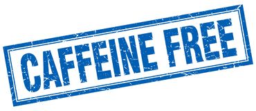 Caffeine free stamp. Caffeine free square grunge stamp. caffeine free sign. caffeine free stock illustration