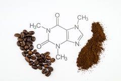 Free Caffeine Molecule Structure Stock Photography - 138982152