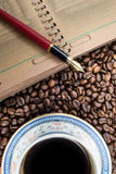 Caffeine notes Stock Images