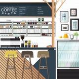 Caffetteria qualsiasi Fotografia Stock