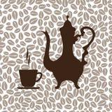 Caffettiera araba e una tazza di caffè Fotografia Stock Libera da Diritti
