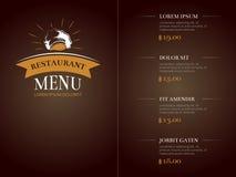 Caférestaurantmenüschablonenidentitäts-Vektormodell Stockbilder