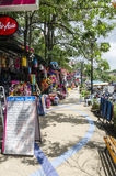 Cafés e lojas pequenos no tailandês Foto de Stock