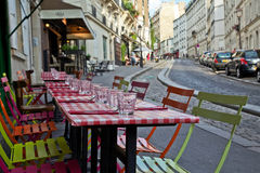 Cafés in Montmartre Stock Photography