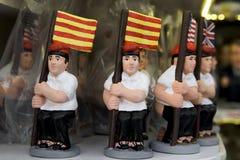 Caganer, carattere catalano nelle scene di natività immagine stock