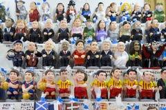 Caganers在圣诞老人公平的Llucia,巴塞罗那 免版税库存图片