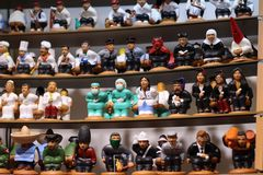 Caganers assortment. Christmas catalan ornamental tradition. Christmas store stock photography