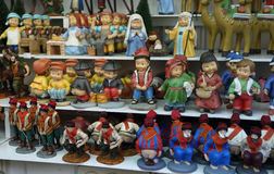 Caganers and other christmas figurines Royalty Free Stock Photos
