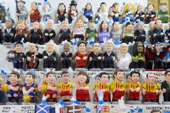 Caganers in Santa Llucia fair, Barcelona Royalty Free Stock Images