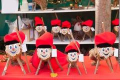 Cagatio is karakter in Catalaanse mythologie met betrekking tot Kerstmis stock afbeelding