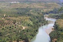 cagayan蜿蜒地流的菲律宾河 库存图片