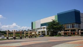 Cagayan de oro, Philippines. A view of the new Liceo de Cagayan High schoo building from Rotunda Circle.l stock photo