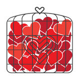 Cage à oiseaux Image libre de droits