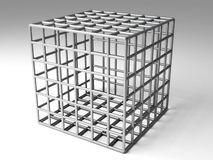 Cage. Hi res rendering of iron cage Stock Image