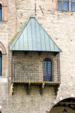 The Cage. Where the prisoners were once exposed to public mockery. Sordello Square Mantua royalty free stock photo