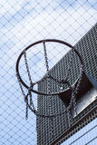 Cage bball hoop 02 Royalty Free Stock Photos