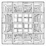 Cage Box Cube Vector Royalty Free Stock Photography