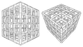 Cage Box Cube Vector Royalty Free Stock Photos