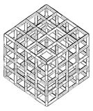 Cage Box Cube Vector Stock Image