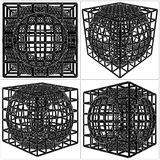 Cage Box Cube Vector Royalty Free Stock Photo