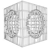 Cage Box Cube Vector Stock Images