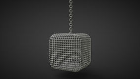 Cage box hanging on a chain Stock Photography