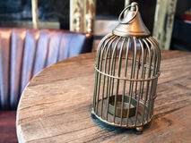 Cage candle holder Stock Photos