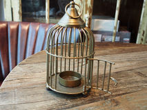 Cage candle holder Royalty Free Stock Photo
