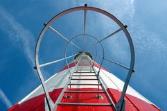 A cage of chimney. And a ladder on the sky royalty free stock images