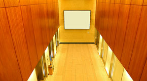 Cage d'ascenseur moderne de construction Photo stock