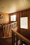 Cage d'escalier de cabine de logarithme naturel Image stock