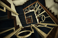 Cage d'escalier hypnotique Photo libre de droits
