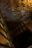 Cage d'escalier rampante foncée Photographie stock