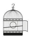 cage d'oiseau Photographie stock libre de droits