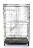 Cage de caisse ou d'animal de chat de fil image stock