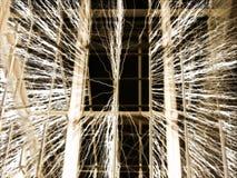 Cage de Faraday - fond de fil illustration de vecteur