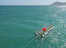 Cage de plongée de requin chez Gansbaai Afrique du Sud Image libre de droits