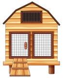 Cage de poulet faite de bois Photos stock