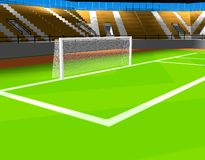 Cage du football Image stock