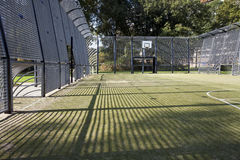 Cage du football et de basket-ball Image libre de droits