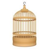 Cage en bois avec le crochet en métal Photographie stock
